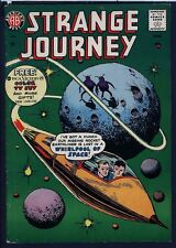 Strange Journey 4 Rocket Ship & Aliens C. 1958 Sci-Fi Comic AB/Steinway/Farrell