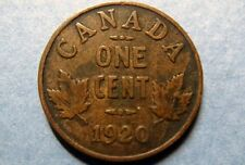"CANADA 1920  Vintage KING GEORGE V ONE CENT ""SMALL-Type"" COPPER COIN,Circulated"
