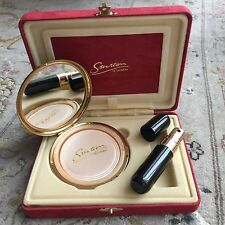 Rare Limited Edition Stratton Compact & Atomiser Set In Suede Presentation Box