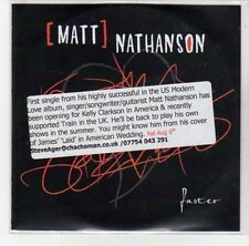 (DL378) Matt Nathanson, Faster - 2011 DJ CD