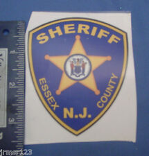 ESSEX COUNTY SHERIFF DECAL (OUTSIDE) PATCH LOGO  NJ  PBA DECAL  NEW DECALS