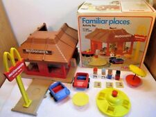 VINTAGE 1974 McDONALD'S PLAYSKOOL FAMILIAR PLACES PLAY SET IN BOX 1970'S TOY