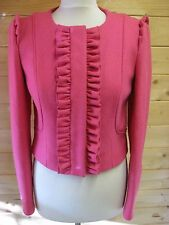 MARKS & SPENCER LIMITED COLLECTION bright pink collarless jacket size 10 BNWT