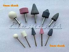 10 pc Mounted Grinding Stones Drill Bits Set with 3mm and 6mm Shank T041