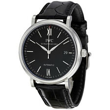 IWC Portofino Black Dial Automatic Mens Watch 3565-02