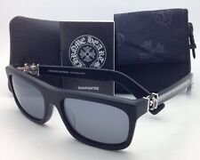 New CHROME HEARTS Sunglasses MYDIXADRYLL MBK-S Black Frame / Matte Silver Mirror