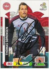 A Panini UEFA EURO 2012 card signed by Thomas Sorensen of Denmark.