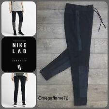 Small Womens 8-10 Nike Lab Tech Fleece Pants 704661-010 Black Grey New With Tags