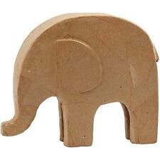Large Elephant  Paper Mache Animal Shaped Paint Decoupage Craft Decorate 21x24cm