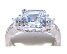 Epiphany Diamonique 6.75ct. Asscher Bridal Engagement Ring-  7   New