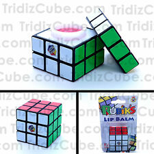 3x3x3 Rubik's Cube Look Alike Lip Balm Fruit Flavored Novelty Gift - US Seller