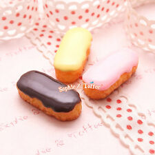 Eclair Fake Sweets Deco Resin Cabochon 6pc | Sweets Deco Jewelry Fake Sweets