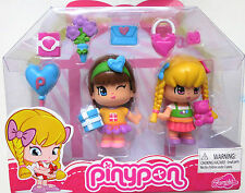 New In Pack Famosa Pinypon Dolls Set 2 Figures with Accessories