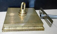 "5""  Square Cast Brass Ceiling Canopy Screw Collar Loop parts included"