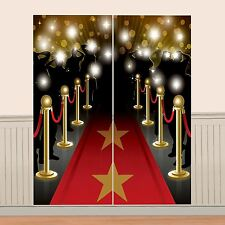 5ft Hollywood Red Carpet Scene Setter Wall Decoration VIP Party Prom Movie Night