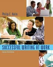 Successful Writing at Work: Concise Edition ( Kolin, Philip C. ) Used - VeryGood