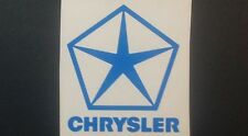 Chrysler Pentastar & Chrysler sml hollow sticker for Chrysler, Dodge, Valiant.