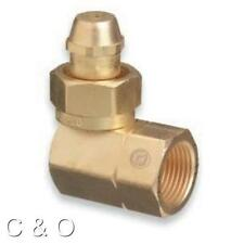 WESTERN # 318 ACETYLENE ADAPTOR CGA-520 TO CGA-510 B TANK to POL REGULATOR