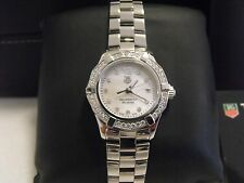 AMAZING AUTHENTIC TAG HEUER AQUARACER WAF1416.BA0813 DIAMOND PEARL LADIES WATCH