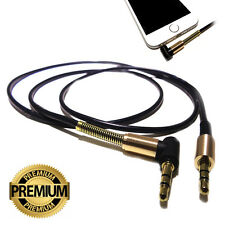 Right Angle 1m 3.5mm Pro Stereo Jack Aux Cable Audio Lead Tablet phone pod pad