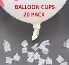 20 Balloon clip ties for party, helium, latex balloons. Crafts EASY