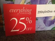 """Discount signs for retail store 25% off  Square 5.5"""" x 5.5"""" shape USED"""