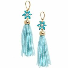 Kate Spade 'lovely lilies' tassel earrings - Turquoise, NWT $98