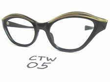 1950s/60s Real Vintage Cat Eye Eyeglasses Frame in Gold (CTW-05)