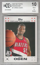 2007 08 Topps 1 rc GREG ODEN portland trail blazers Rookie MINT card bgs BCCG 10