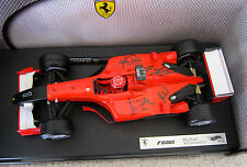 MICHAEL SCHUMACHER ROSS BRAWN JEAN TODT AUTOGRAPHED 2001 FERRARI HOTWHEELS   F1