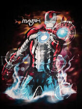 2010 Iron Man-Mark 5-Comic Avengers Superhero Football-Suitcase Armor T-Shirt-L