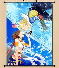 Home Decor Japanese Wall poster Scroll  Final Fantasy 13 XIII-2 Tidus Yuna Art