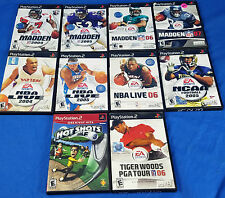 MVP Baseball 2004 Madden 2005 2006 2007 NBA Live NCAA Football Tiger Woods LOT
