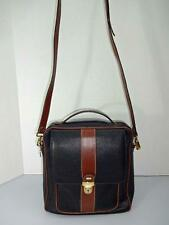 BALLY ITALY MADE BLACK PEBBLE LEATHER W/TAN TRIM TOTE CROSS BODY BAG HANDBAG