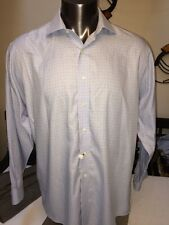 Men's Brooks Brothers 346 Blue Check Non Iron Button-Front Shirt Size 16 1/2
