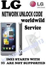All LG UNLOCK CODE/PIN AT&T USA ESCAPE P870 OPTIMUS G E970 THRILL P925 G2 G3 L70