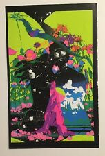 Blacklight Poster Pin-up Print Zephyr & Symbology Psychedelic Double Sided