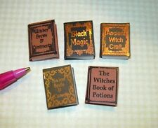 Miniature Halloween Witch Reference Books #1: DOLLHOUSE Miniatures 1/12 Scale