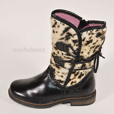 Bo-bell Girls I Pillow Black Leather Zip Boots UK 9 EU 27 US 9.5 RRP £69.00