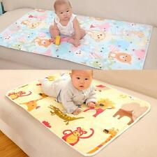 Baby Infant Diaper Nappy Urine Mat Kid Waterproof Bedding Changing Cover Pad S