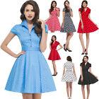 2015 SWING 50's 60'S VINTAGE PROM PIN UP DRESSES PARTY EVENING DRESS