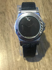 Mens Vintage MOVADO Museum 84.A2.878.2 Stainess Steel RARE Textured Dial Watch