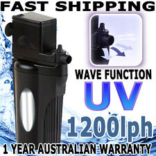 Biopro Aquarium Fish Tank Internal Water Pond UV Filter Wave Maker Pump 1200lph