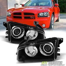 2008-2010 Dodge Charger [HID Xenon] Headlights Headlamps Replacement Left+Right