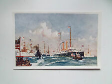 "ORIGINAL NAVAL PRINT ""THE CRESCENT ""  28CM X 17CM BY CHARLES DIXON DATE1901"