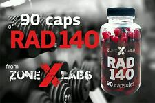 ZoneXLabs RAD 140 - cutting and strength in same time , 90 caps, UK SELLER!!
