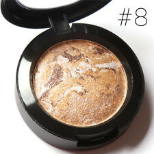 10 Colors Eyeshadow Makeup Metallic Glitter Pigment Pressed Powder Palette 08#