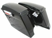"4"" Dual Cut Fat Ass Stretched Extended Hard Saddlebags For Harley Touring 94-13"