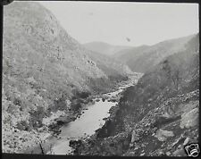 Glass Magic Lantern Slide BARREN JACK DAM SITE 1907 PHOTO AUSTRALIA BURRINJUCK