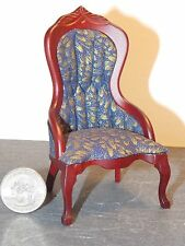 Dollhouse Miniature Victorian Lady's Chair Mahogany  1:12  one inch scale    G94